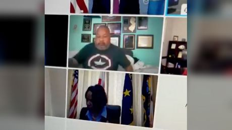US Congressman attends Zoom hearing in pajamas, showing stomach & boxers to shocked colleagues