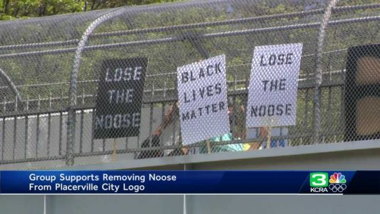 Group rallies in Placerville in support of removing noose from city logo