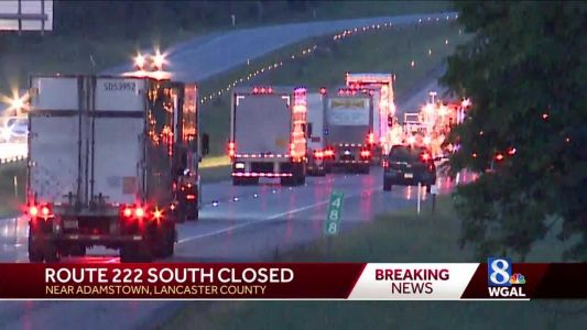 Two-vehicle crash shuts down stretch of Route 222 near Adamstown