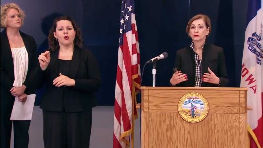 WATCH LIVE: Gov. Reynolds provides update on COVID-19 in Iowa