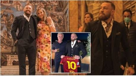 McGregor enjoys son's christening at Vatican after sharing whiskey with Mourinho & being mobbed in streets of Rome