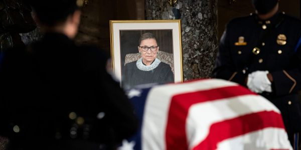 McConnell rejected Pelosi's request for Ruth Bader Ginsburg to lie in state at the Capitol Rotunda, book says