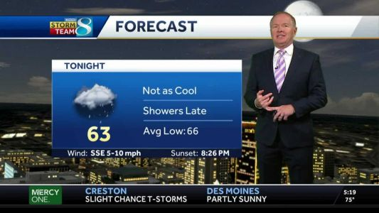 Rain chances increase late Wednesday as warm up begins