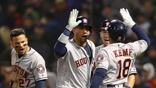 Astros 7, Red Sox 2 I Houston leads series, 1-0: Astros Top Red Sox in an A.L.C.S. Game 1 That Is Far From a Grand Opening