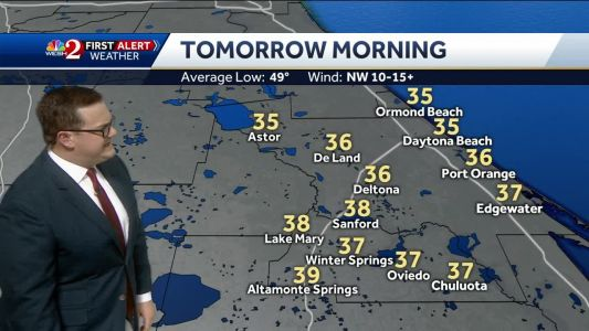 Monday remains chilly for Central Florida