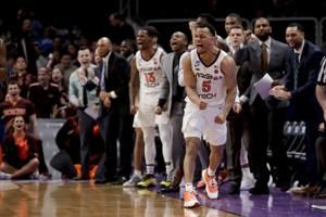 Va Tech beats Saint Louis 66-52 for 1st tourney in 12 years