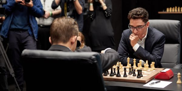 Video released during the World Chess Championships has many wondering if it was a terrible blunder or crafty a bit of gamesmanship