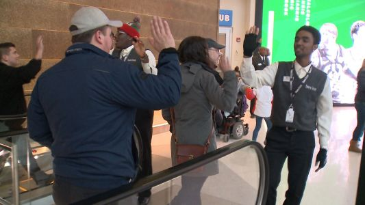 Fiserv Forum staff take the high-five to the next level