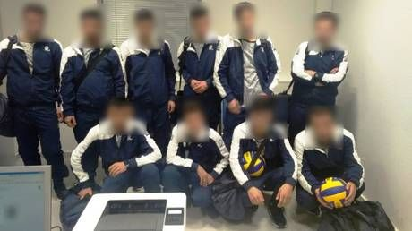 Busted! Syrian refugees try to sneak past airport guards by masquerading as Ukrainian volleyball team