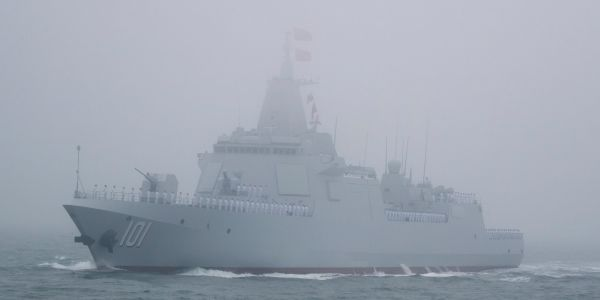 China shows off its new destroyer during massive display of naval power