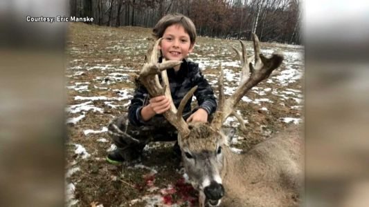 'Just amazing': 7-year-old boy shoots 21-point buck