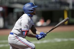 Gallo, Choo homer as Rangers avoid sweep in San Francisco