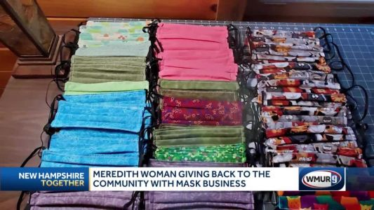 Meredith woman gives back to community with mask business