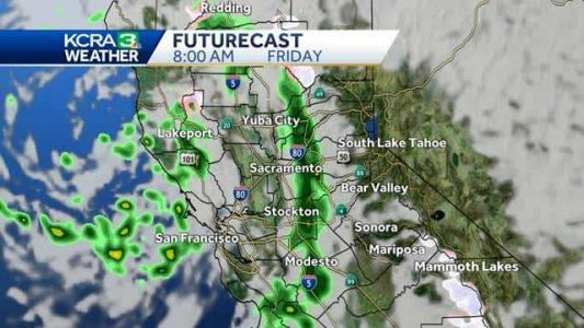 Increasing clouds will lead to rain and snow developing Friday