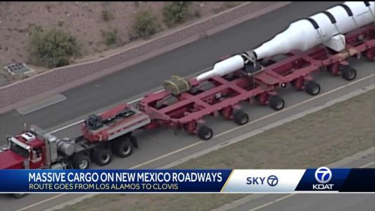 Wide load on New Mexico roads