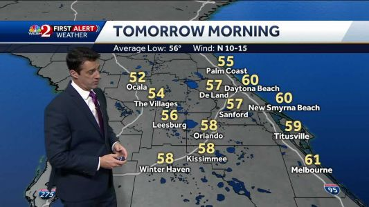 Temps in the 50s Wednesday morning