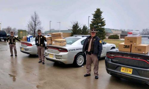 Iowa State Patrol helps medical supplies to areas in need