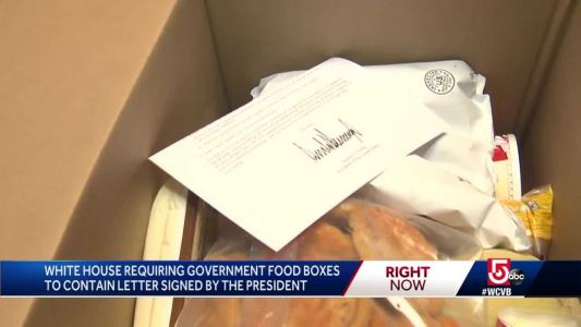 'Political ploy' Walsh says of Trump letters required in food boxes