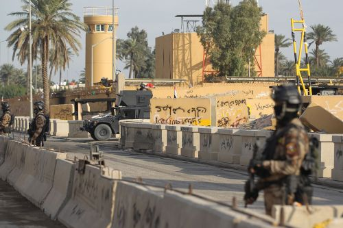Rockets fired near US embassy in Baghdad's Green Zone