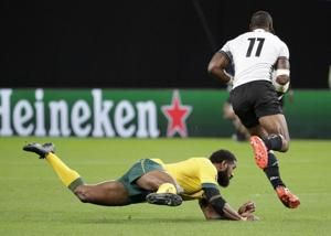 The Latest: Nyakane out of World Cup; Boks draft in du Toit
