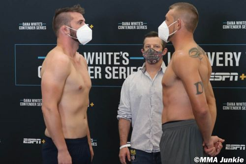 Dana White's Contender Series 27 live results
