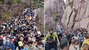 Tourist sites packed in China as country comes out of lockdown