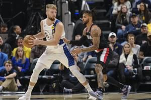 Sabonis scores 20 points, Pacers beat Trail Blazers, 106-100