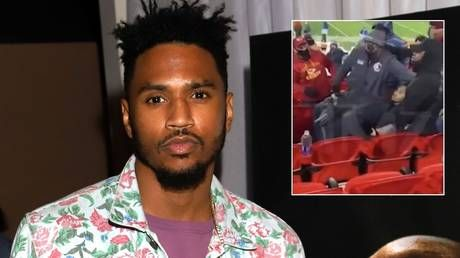 Mask row allegedly led to arrest of rapper Trey Songz after star 'placed police officer in headlock' at NFL game