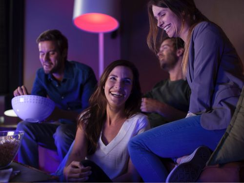 Amazon is offering a $45 discount on a refurbished Philips Hue starter kit right now