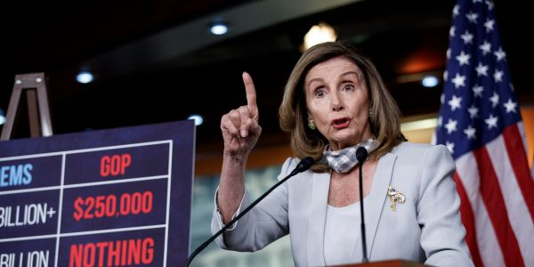 Nancy Pelosi blasts the White House's $1.6 trillion stimulus plan, saying it's not even 'half a loaf'