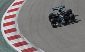 Motor racing-Bottas again fastest in first practice for Russian GP