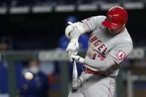 Ohtani's 3 RBIs Trout's HR leads Angels over Royals 10-3