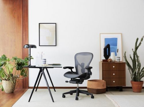 A comfortable ergonomic chair makes working from home more pleasant