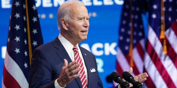 Joe Biden says the stimulus package being negotiated 'would be better' if it included a fresh wave of $1,200 payments - and suggests they are still in the mix