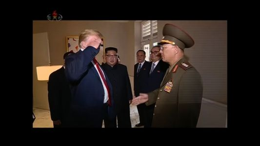 New video shows President Trump saluting North Korean general
