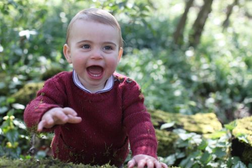 Prince Louis poses for 1st birthday portraits taken by Duchess Kate