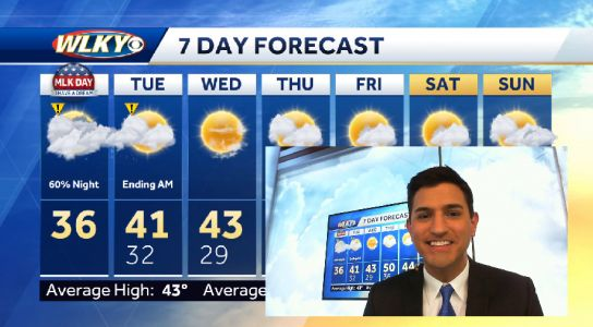 Chilly with flurries Monday