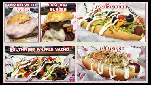 Waffle nachos, red chile cotton candy burgers and more