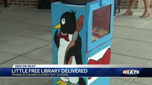 New little free library comes to Jeffersonville elementary school