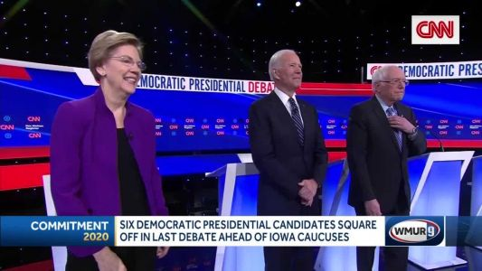 Democratic presidential candidates take the debate stage as polls remain tight in Iowa