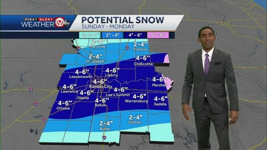 4 to 6 inches of snow expected Sunday, Monday