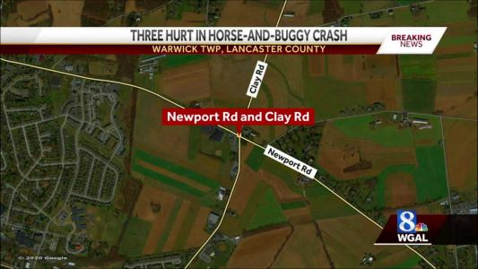 Car crash involving a horse-and-buggy leave three people hurt in Warwick Township