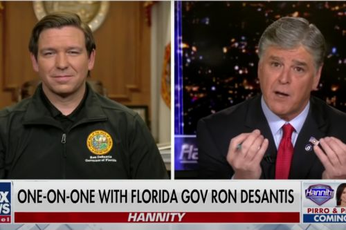 DeSantis turns to Hannity for shelter from political storms