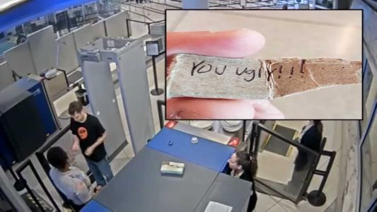 Airport worker fired for giving passenger 'You ugly!' note