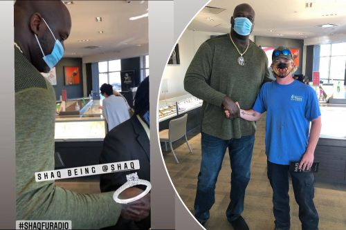 Shaq pays for stranger's engagement ring in Atlanta jewelry store