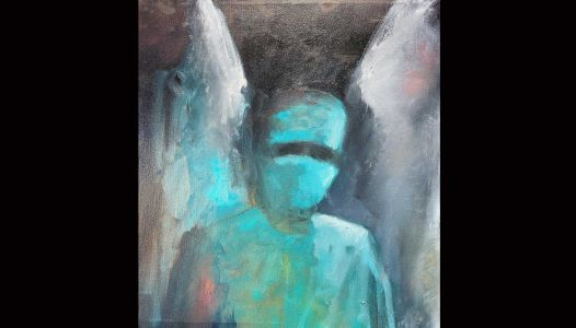 Greenville artist dedicates 'Masked Angel' to medical workers in 'foxholes' of COVID-19 pandemic