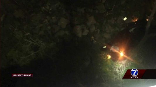 Woman critically hurt after driving into ravine
