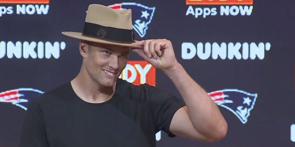 Tom Brady is getting roasted for wearing a big hat after a Patriots preseason game