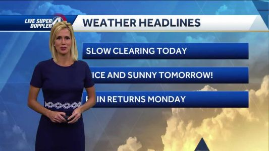 Videocast: Dry for the rest of the weekend