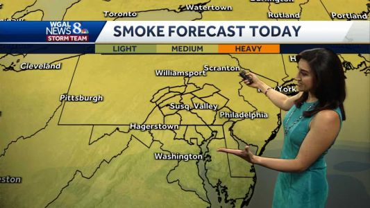 Forecast: Smoke from wildfires will be in upper atmosphere today